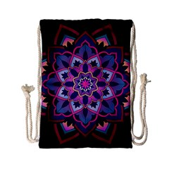 Mandala Circular Pattern Drawstring Bag (small) by Onesevenart