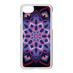 Mandala Circular Pattern Apple Iphone 7 Seamless Case (white) by Onesevenart