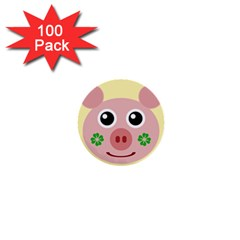 Luck Lucky Pig Pig Lucky Charm 1  Mini Buttons (100 Pack)  by Onesevenart