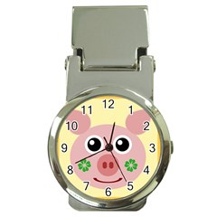 Luck Lucky Pig Pig Lucky Charm Money Clip Watches by Onesevenart