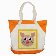 Luck Lucky Pig Pig Lucky Charm Accent Tote Bag by Onesevenart