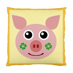 Luck Lucky Pig Pig Lucky Charm Standard Cushion Case (two Sides) by Onesevenart