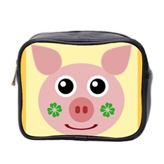 Luck Lucky Pig Pig Lucky Charm Mini Toiletries Bag 2 Side by Onesevenart