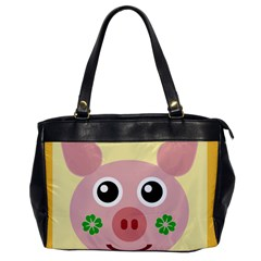 Luck Lucky Pig Pig Lucky Charm Office Handbags by Onesevenart
