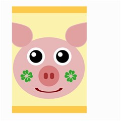 Luck Lucky Pig Pig Lucky Charm Large Garden Flag (two Sides) by Onesevenart
