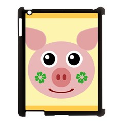 Luck Lucky Pig Pig Lucky Charm Apple Ipad 3/4 Case (black) by Onesevenart