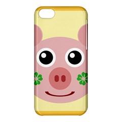 Luck Lucky Pig Pig Lucky Charm Apple Iphone 5c Hardshell Case by Onesevenart