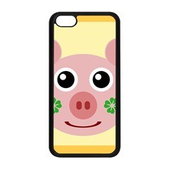 Luck Lucky Pig Pig Lucky Charm Apple Iphone 5c Seamless Case (black) by Onesevenart