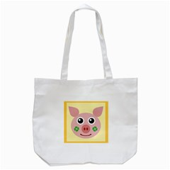 Luck Lucky Pig Pig Lucky Charm Tote Bag (white) by Onesevenart
