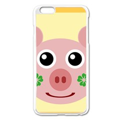 Luck Lucky Pig Pig Lucky Charm Apple Iphone 6 Plus/6s Plus Enamel White Case by Onesevenart