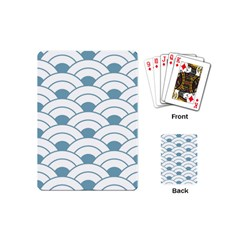 Art Deco Teal White Playing Cards (mini)  by 8fugoso