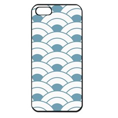 Art Deco Teal White Apple Iphone 5 Seamless Case (black) by 8fugoso
