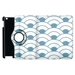 Art Deco Teal White Apple Ipad 3/4 Flip 360 Case by 8fugoso