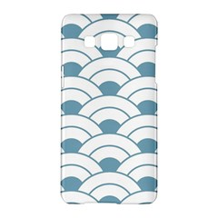 Art Deco Teal White Samsung Galaxy A5 Hardshell Case  by 8fugoso
