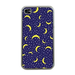 Moon Pattern Apple Iphone 4 Case (clear)