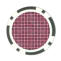 Woven1 Black Marble & Pink Watercolor Poker Chip Card Guard (10 Pack) by trendistuff