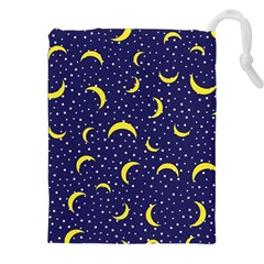 Moon Pattern Drawstring Pouches (xxl) by Onesevenart