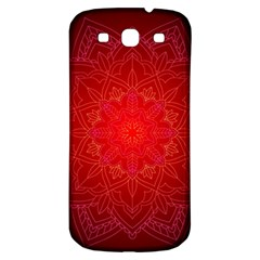 Mandala Ornament Floral Pattern Samsung Galaxy S3 S Iii Classic Hardshell Back Case by Onesevenart