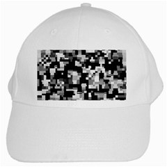 Noise Texture Graphics Generated White Cap by Onesevenart