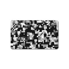 Noise Texture Graphics Generated Magnet (name Card) by Onesevenart