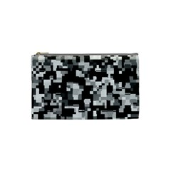 Noise Texture Graphics Generated Cosmetic Bag (small)  by Onesevenart