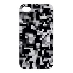 Noise Texture Graphics Generated Apple Iphone 4/4s Premium Hardshell Case by Onesevenart