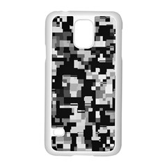 Noise Texture Graphics Generated Samsung Galaxy S5 Case (white) by Onesevenart