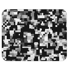 Noise Texture Graphics Generated Double Sided Flano Blanket (medium)  by Onesevenart