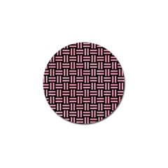Woven1 Black Marble & Pink Watercolor (r) Golf Ball Marker by trendistuff