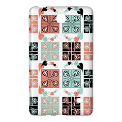 Mint Black Coral Heart Paisley Samsung Galaxy Tab 4 (8 ) Hardshell Case  by Onesevenart
