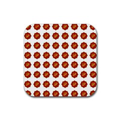 I Ching Set Collection Divination Rubber Coaster (square)  by Onesevenart
