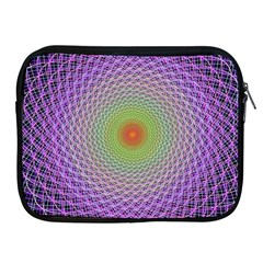 Art Digital Fractal Spiral Spin Apple Ipad 2/3/4 Zipper Cases by Onesevenart