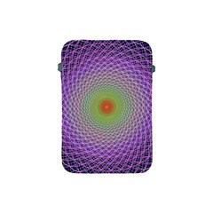 Art Digital Fractal Spiral Spin Apple Ipad Mini Protective Soft Cases by Onesevenart