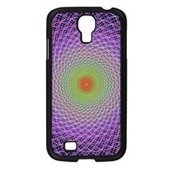 Art Digital Fractal Spiral Spin Samsung Galaxy S4 I9500/ I9505 Case (black) by Onesevenart
