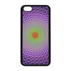 Art Digital Fractal Spiral Spin Apple Iphone 5c Seamless Case (black) by Onesevenart