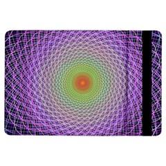 Art Digital Fractal Spiral Spin Ipad Air Flip by Onesevenart