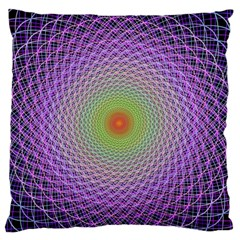 Art Digital Fractal Spiral Spin Large Flano Cushion Case (one Side) by Onesevenart