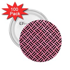 Woven2 Black Marble & Pink Watercolor 2 25  Buttons (100 Pack)  by trendistuff