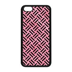 Woven2 Black Marble & Pink Watercolor Apple Iphone 5c Seamless Case (black) by trendistuff