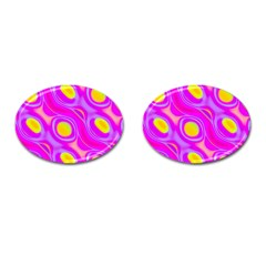Noise Texture Graphics Generated Cufflinks (oval) by Onesevenart