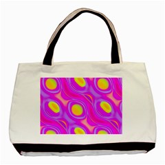 Noise Texture Graphics Generated Basic Tote Bag by Onesevenart