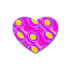 Noise Texture Graphics Generated Heart Coaster (4 Pack)  by Onesevenart