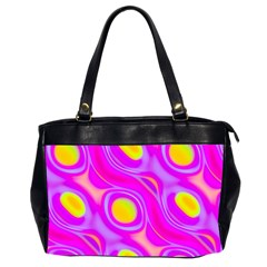 Noise Texture Graphics Generated Office Handbags (2 Sides)  by Onesevenart