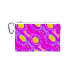 Noise Texture Graphics Generated Canvas Cosmetic Bag (s) by Onesevenart