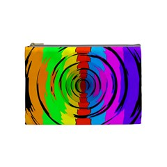 Pattern Colorful Glass Distortion Cosmetic Bag (medium)  by Onesevenart