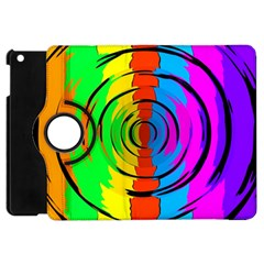 Pattern Colorful Glass Distortion Apple Ipad Mini Flip 360 Case by Onesevenart