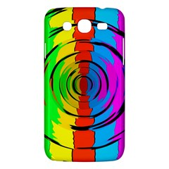 Pattern Colorful Glass Distortion Samsung Galaxy Mega 5 8 I9152 Hardshell Case  by Onesevenart