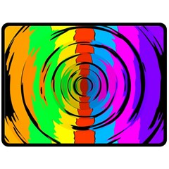 Pattern Colorful Glass Distortion Double Sided Fleece Blanket (large)  by Onesevenart