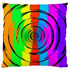 Pattern Colorful Glass Distortion Standard Flano Cushion Case (one Side) by Onesevenart