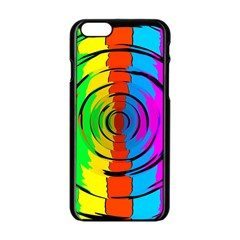 Pattern Colorful Glass Distortion Apple Iphone 6/6s Black Enamel Case by Onesevenart